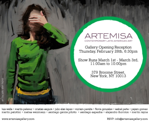 online invitation ARTEMISA opening copy